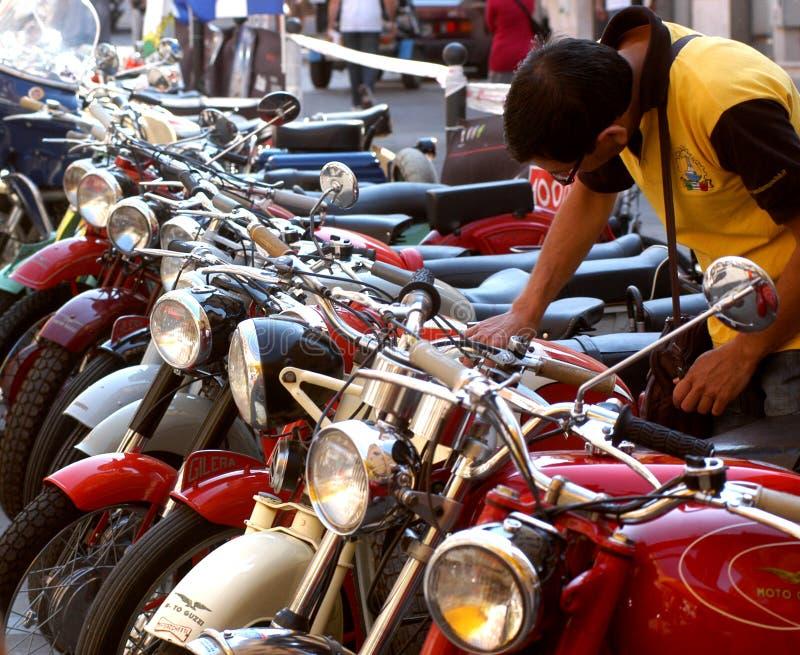 Het merk Moto Guzzi van de motorfietsverzameling stock afbeeldingen