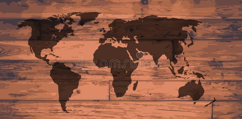 Het Merk van de wereldkaart royalty-vrije illustratie