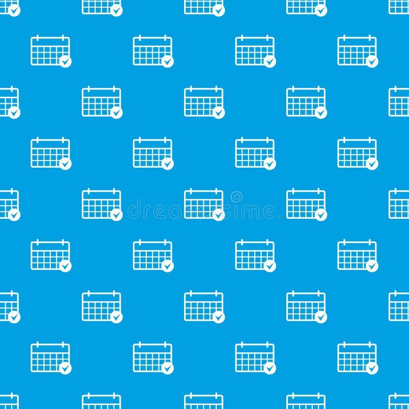 Het merken van het vector naadloze blauw van het kalenderpatroon royalty-vrije illustratie