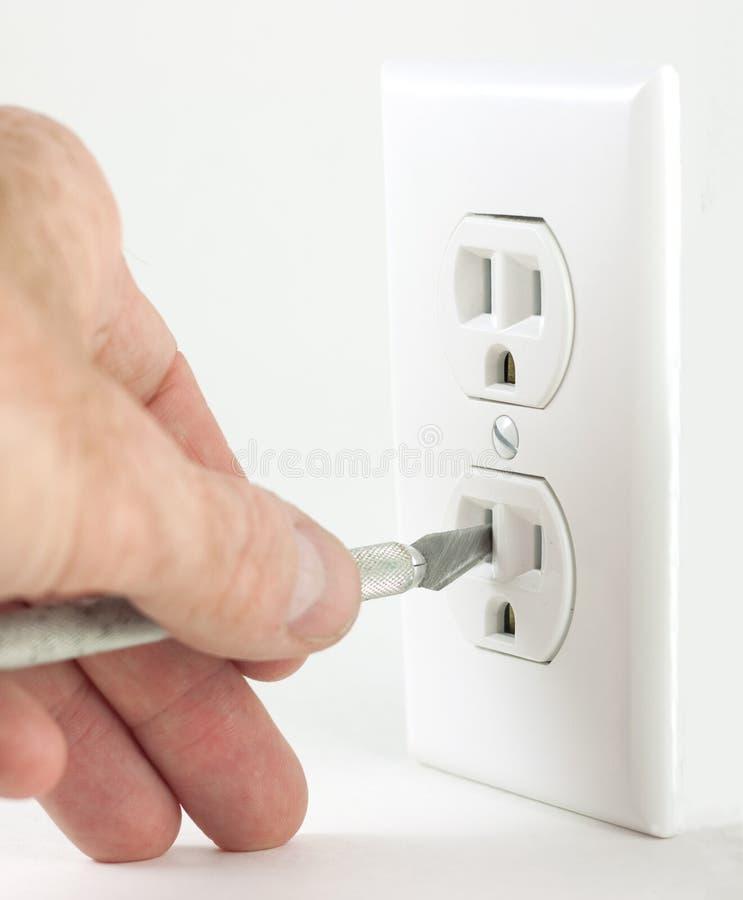 Het mes van de ambacht in elektroafzet stock fotografie