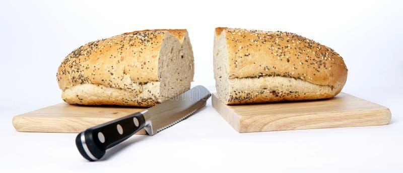 Het Mes van het brood royalty-vrije stock fotografie