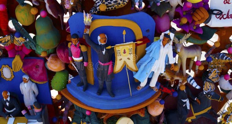 Het met de hand gemaakte kleibeeldhouwwerk vertegenwoordigen schreeuwt van Mexicaanse onafhankelijkheid royalty-vrije stock afbeelding