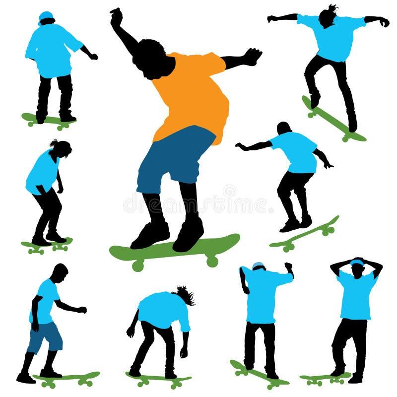 Het met een skateboard rijden vector illustratie