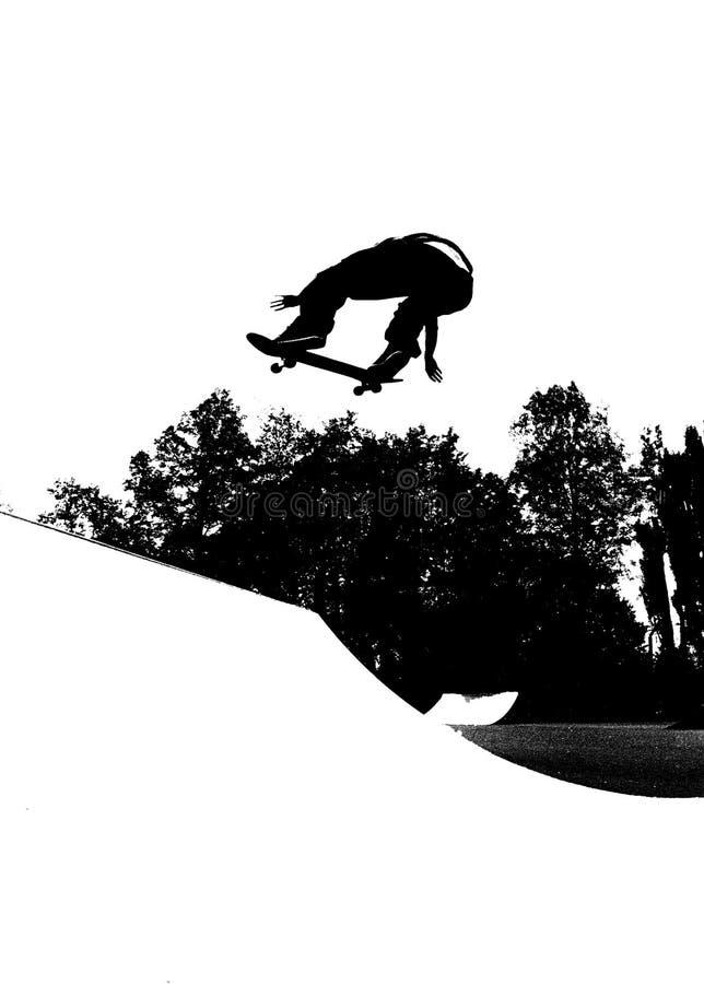 Het met een skateboard rijden stock illustratie