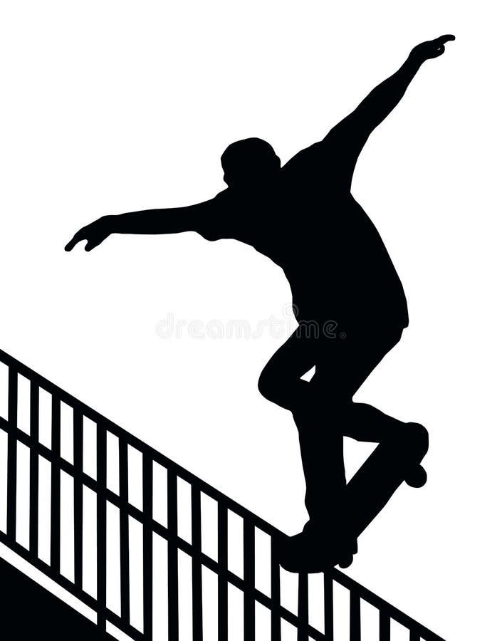 Het met een skateboard rijden van de Dia van het Spoor Nosegrind vector illustratie