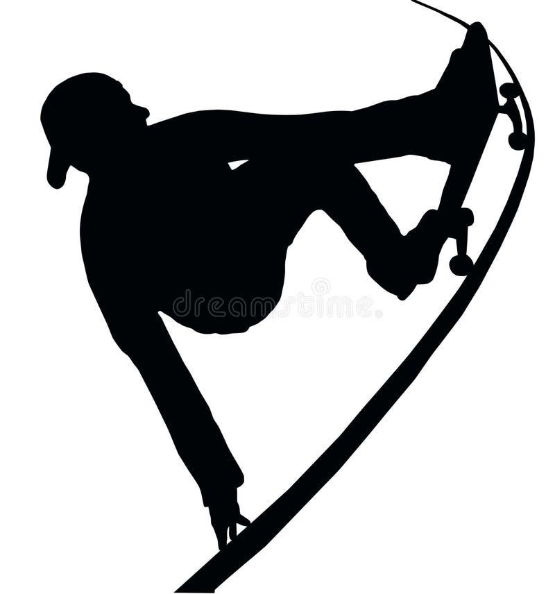 Het met een skateboard rijden van de Greep van de Helling Vert vector illustratie