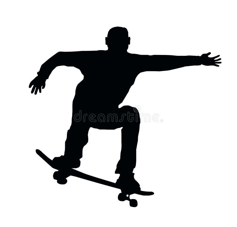 Het met een skateboard rijden van Sprong stock illustratie