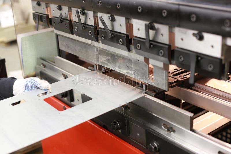 Het metaal buigende machine van het blad stock foto