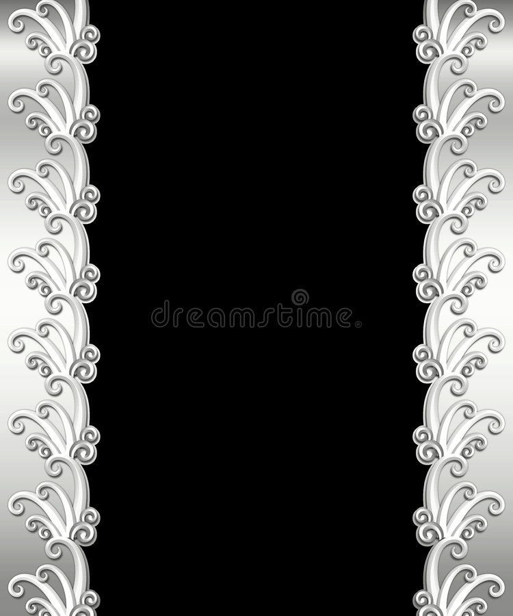 Het metaal Frame van het Art deco royalty-vrije illustratie