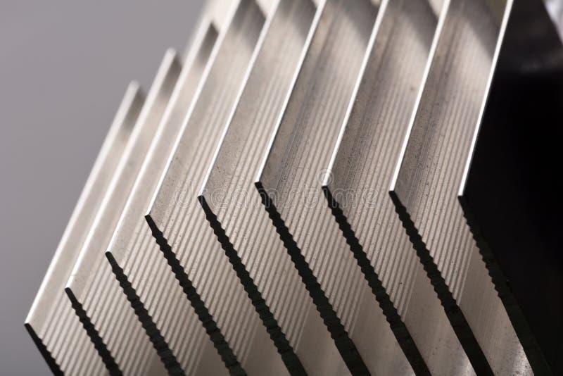 Het metaal gestripte beeld van de radiatorclose-up stock afbeeldingen