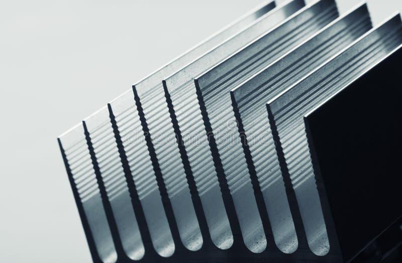 Het metaal gestripte beeld van de radiatorclose-up royalty-vrije stock afbeeldingen
