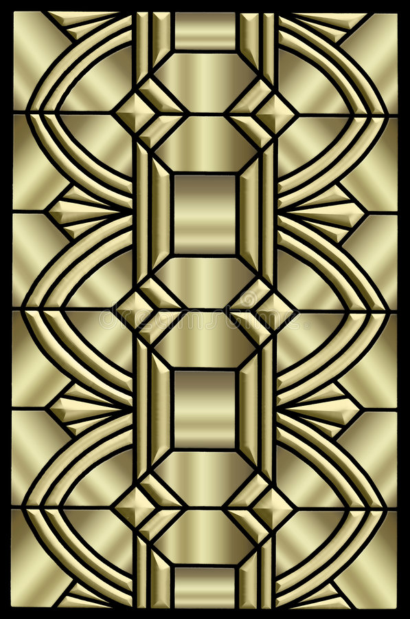 Het metaal ontwerp van het Art deco vector illustratie