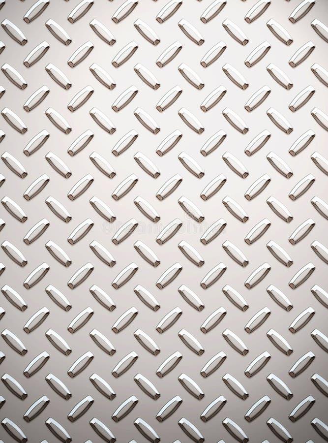 Het metaal van de de diamantplaat van de legering stock illustratie