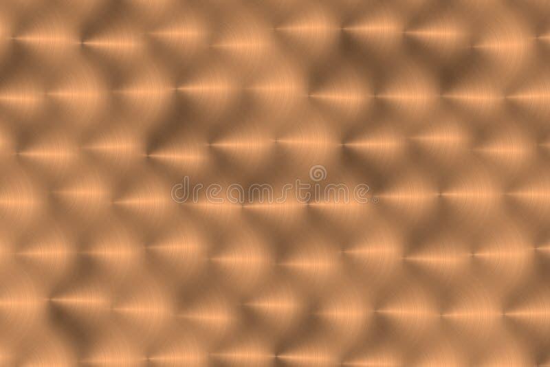 Het metaal van Handbrushed - Goud stock illustratie