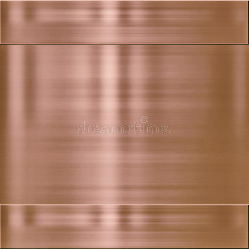 Het metaal van het achtergrond koper textuur vector illustratie