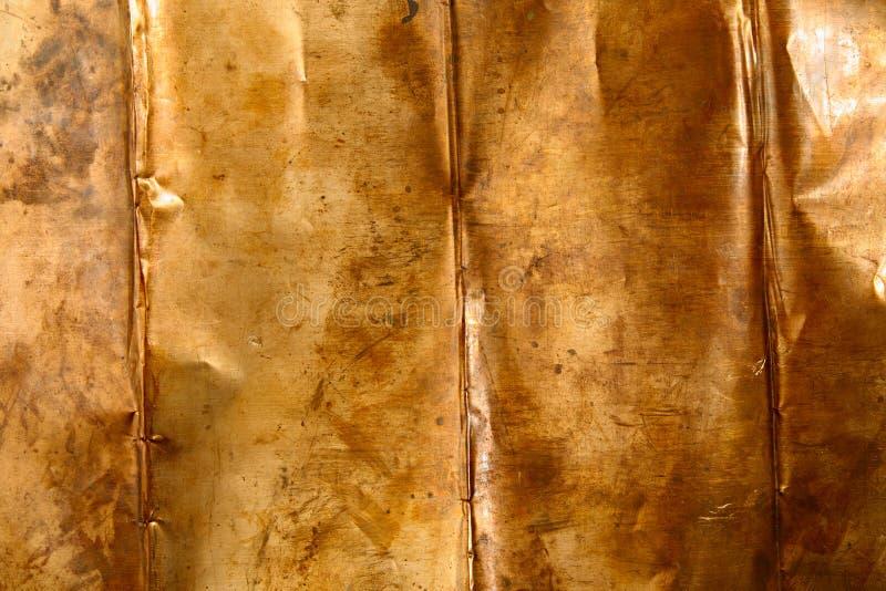 Het metaal van het bronsblad stock foto