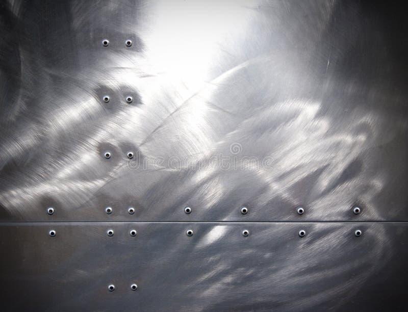 Het metaal van Rivetted stock afbeelding