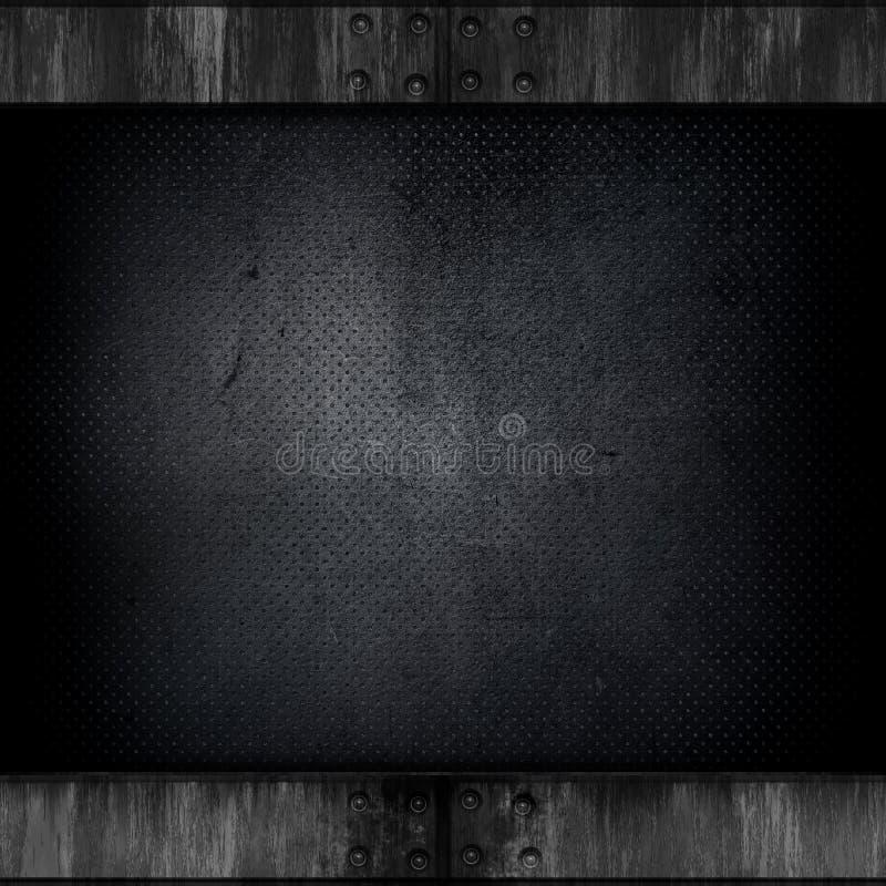 Het metaalachtergrond van Grunge stock illustratie