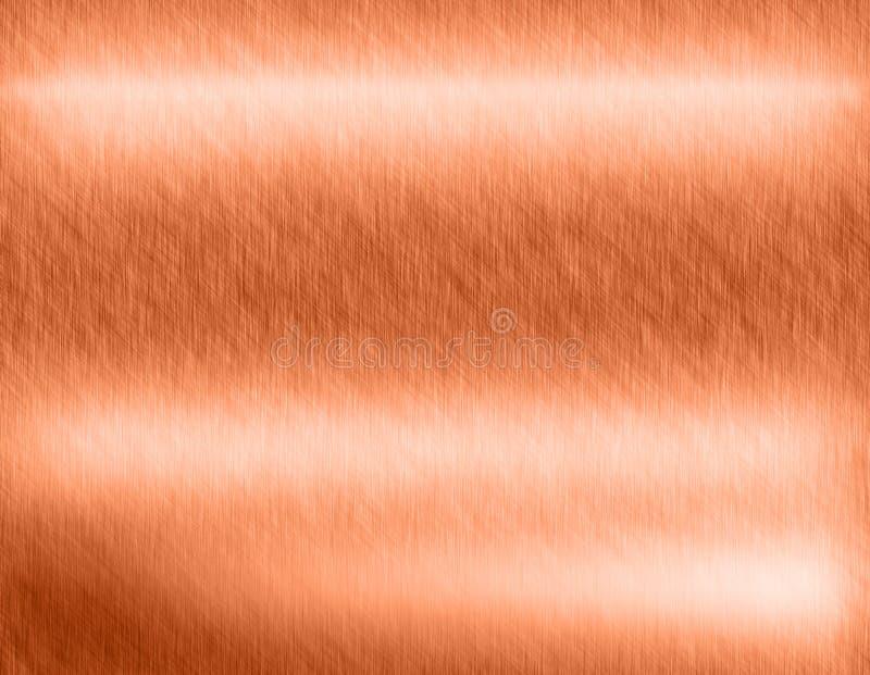 Het metaalachtergrond van het koperbrons stock illustratie