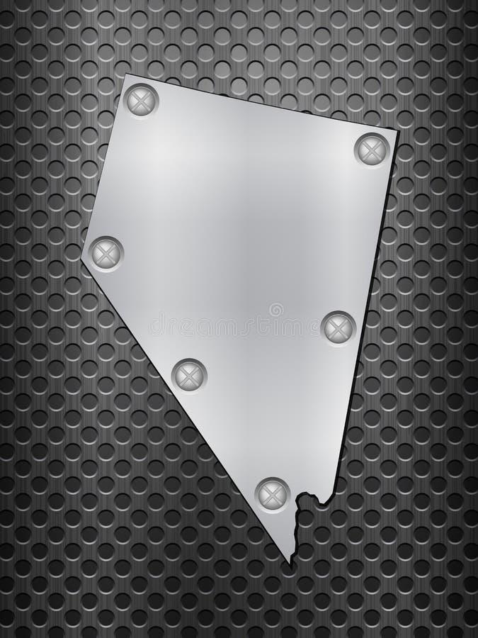 Het metaalkaart van Nevada vector illustratie
