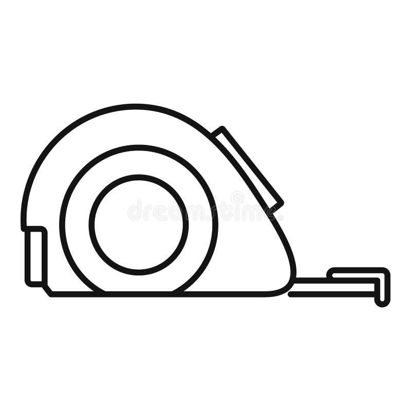 Het meten van bandpictogram, overzichtsstijl royalty-vrije illustratie