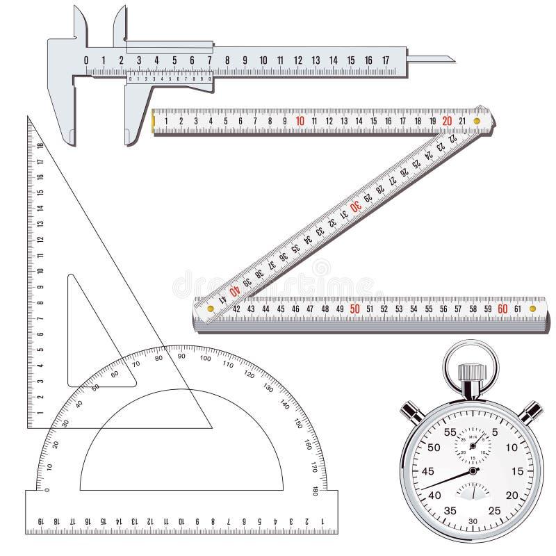 Het meten van hulpmiddelen royalty-vrije illustratie
