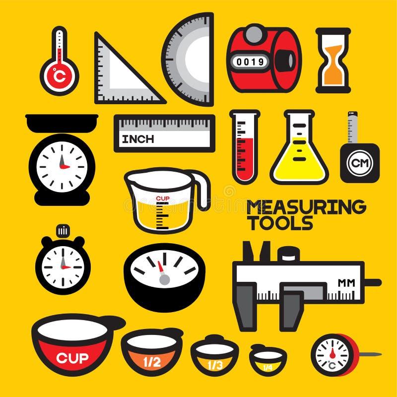 Het meten van hulpmiddelen vector illustratie