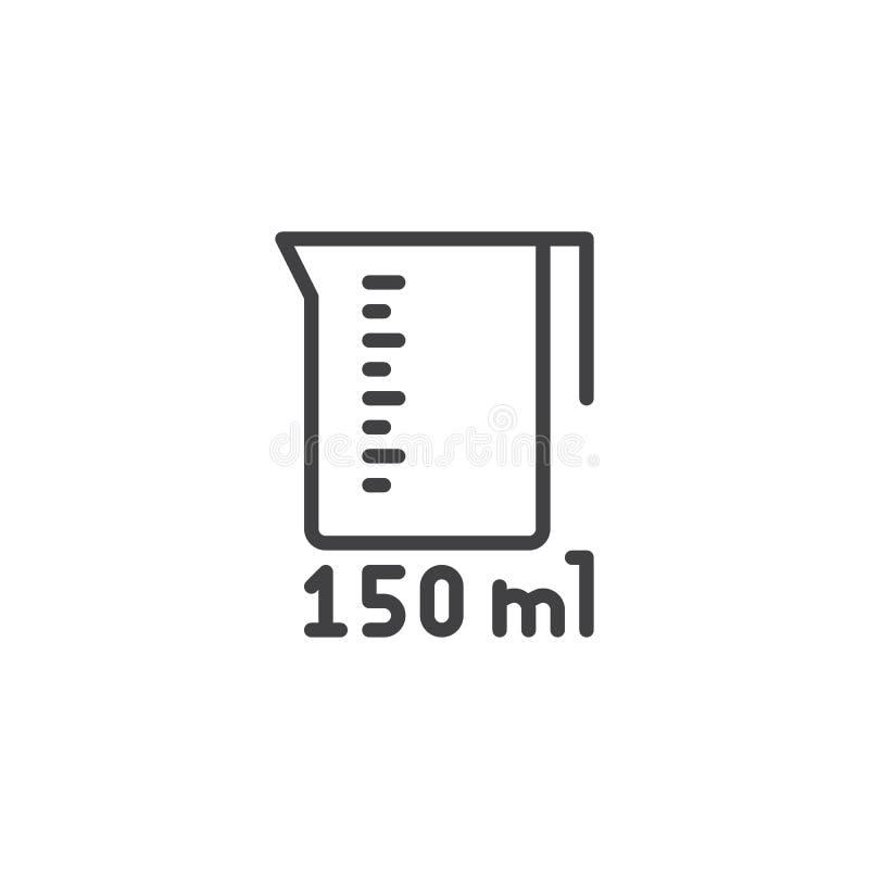 Het meten van kop voor het pictogram van de keukenlijn vector illustratie