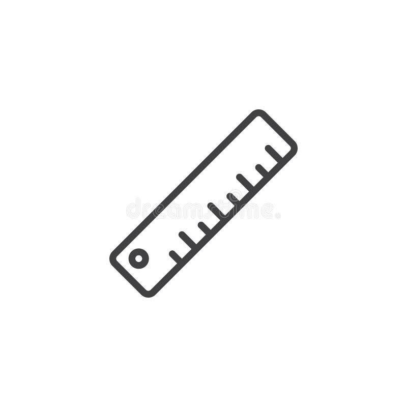Het meten van het pictogram van de heerserslijn vector illustratie