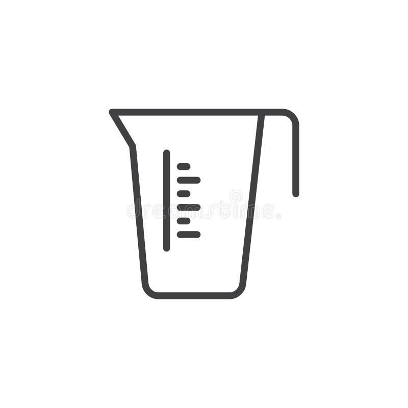 Het meten van het pictogram van de koplijn royalty-vrije illustratie