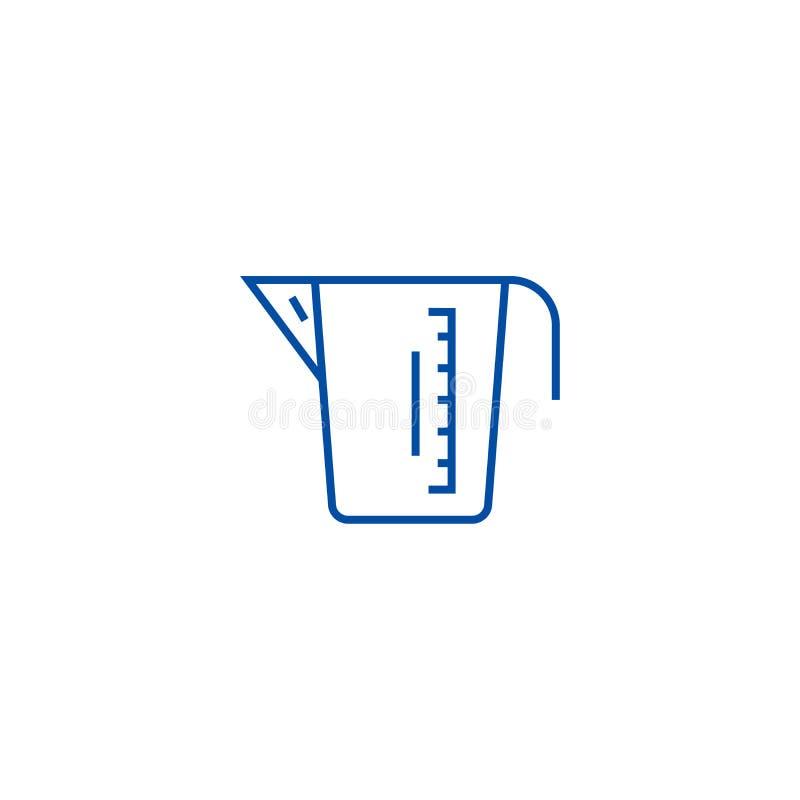 Het meten van het pictogramconcept van de koplijn Het meten van kop vlak vectorsymbool, teken, overzichtsillustratie vector illustratie
