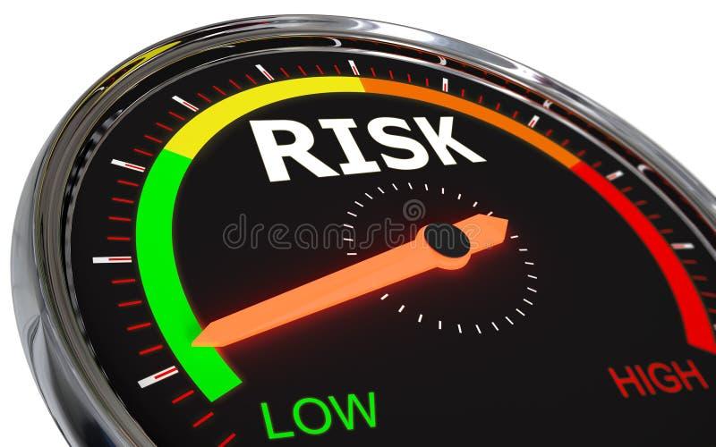 Het meten van risiconiveau royalty-vrije illustratie