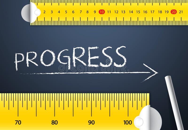 Het meten van Vooruitgang royalty-vrije illustratie