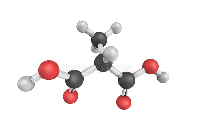 Het Methylmaloniczuur is een dicarboxylic zuur dat geméthyleerd a.c. - is stock afbeeldingen
