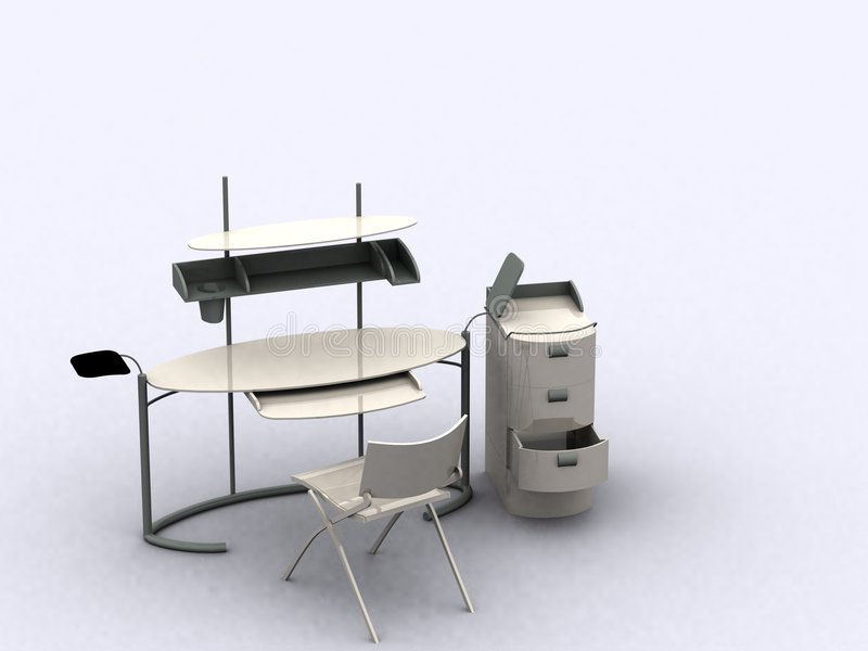 Het Meubilair van de computer stock foto