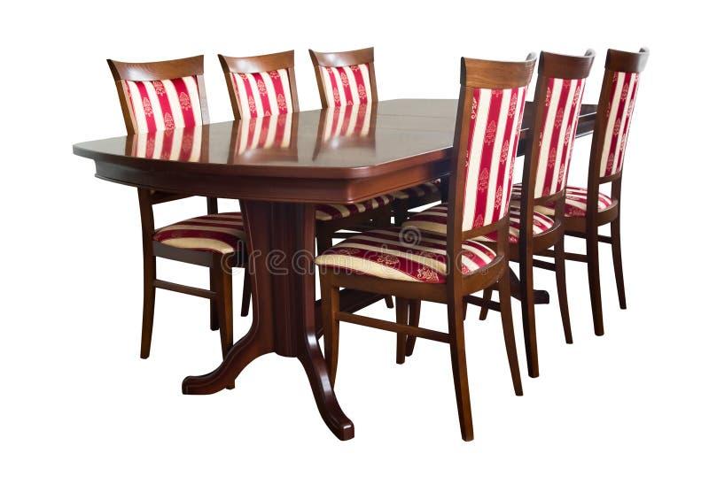 Het meubilair van de eetkamer royalty-vrije stock afbeelding