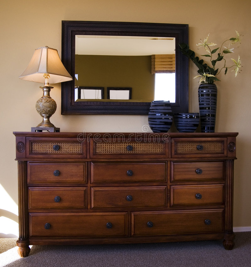 Het meubilair van de slaapkamer stock fotografie
