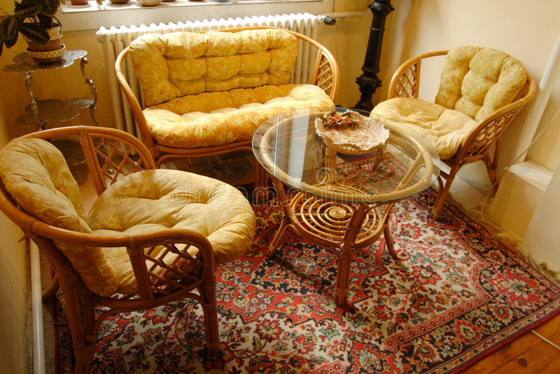 Het meubilair van het bamboe royalty-vrije stock afbeeldingen