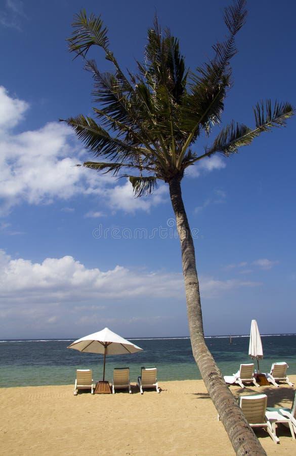 Het Meubilair van het strand, Sanur, Bali royalty-vrije stock afbeelding