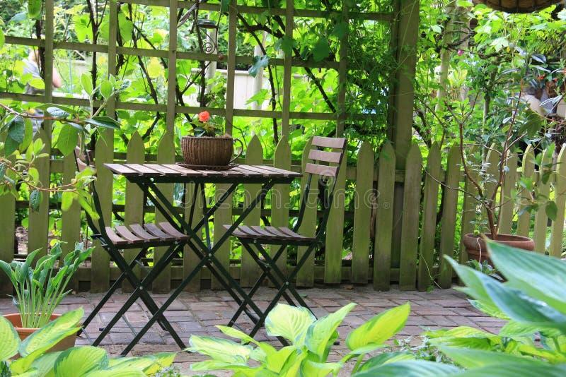 Het meubilair van het terras stock fotografie