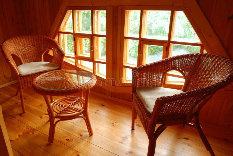 Het meubilair van het terras stock foto