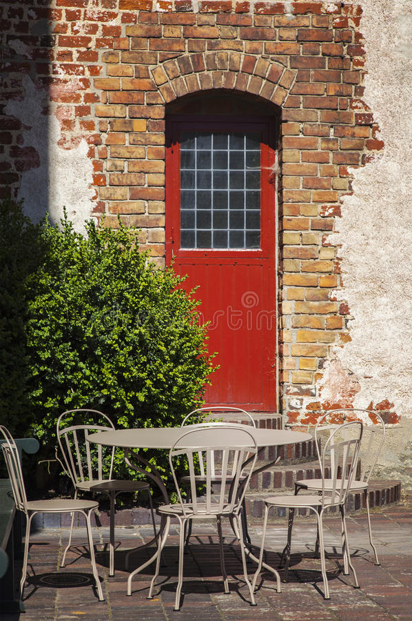 Het meubilair van het tuinterras royalty-vrije stock foto's