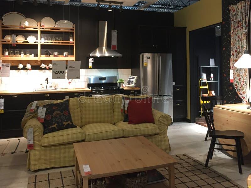 Het meubilair van Nice voor verkoop bij opslag IKEA Texas America royalty-vrije stock foto
