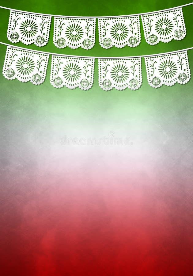 Het Mexicaanse malplaatje van de decoratieaffiche - exemplaarruimte vector illustratie