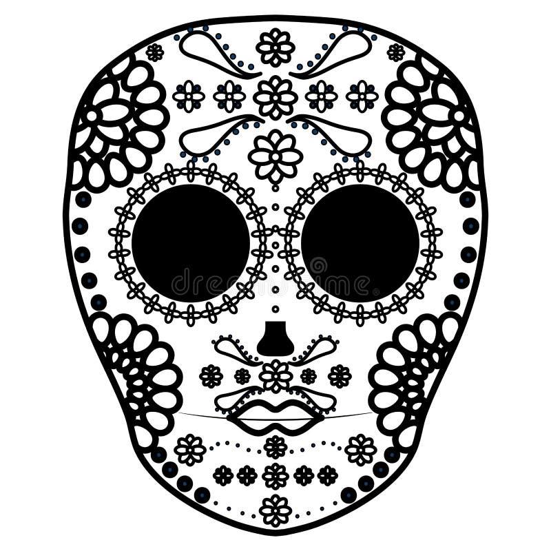 Het Mexicaanse masker van de schedeldood stock illustratie