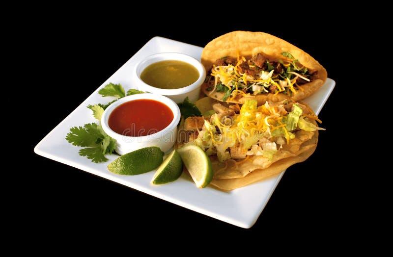 Het Mexicaanse Voedsel van taco's stock foto's