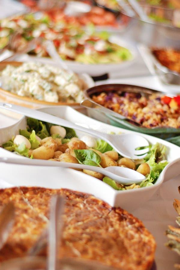 Het middagmaal van het buffet royalty-vrije stock afbeelding