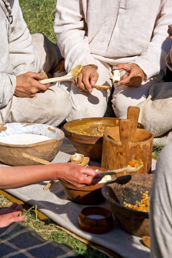 Het middeleeuwse eten royalty-vrije stock afbeelding