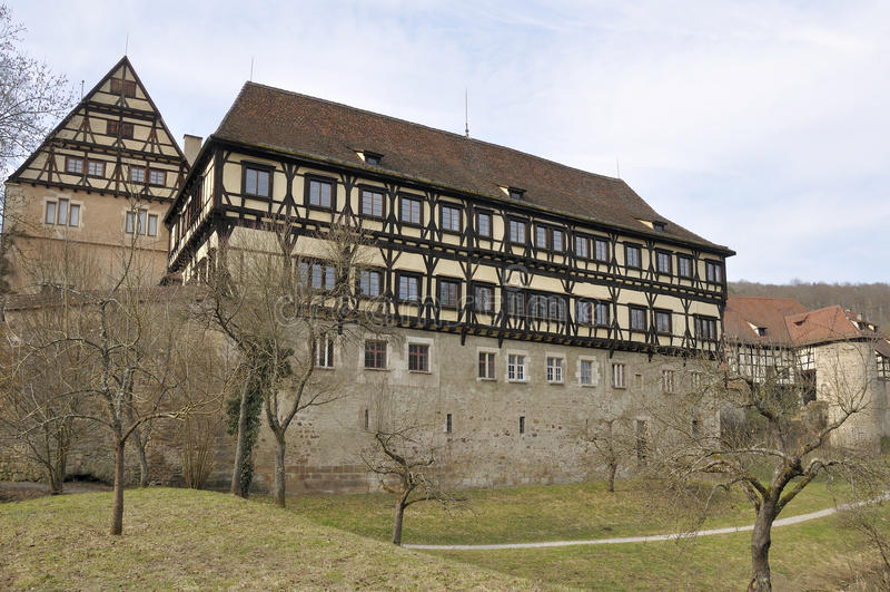 Het middeleeuwse klooster, bebenhausen stock foto's