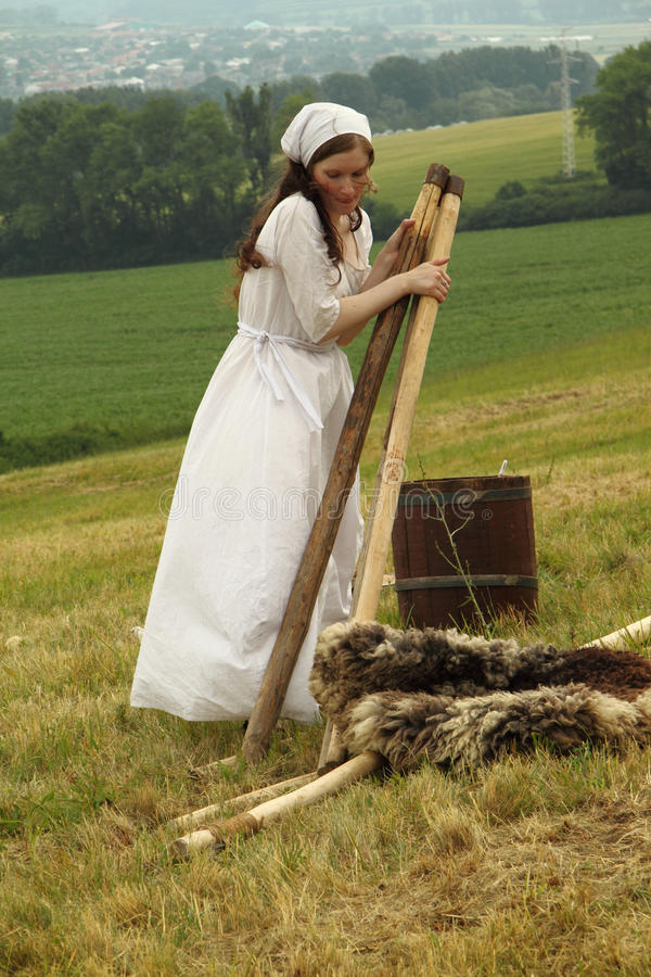 Het middeleeuwse leven royalty-vrije stock fotografie